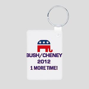 Bush Cheney 2012 Aluminum Photo Keychain