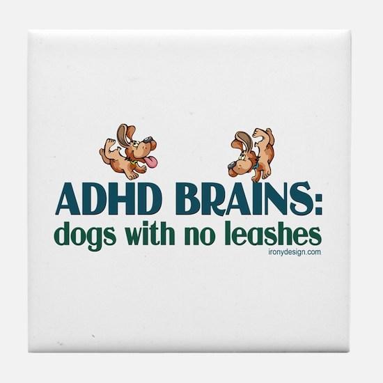 ADHD BRAINS Tile Coaster