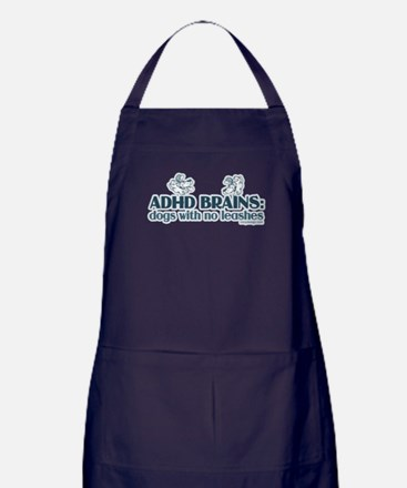 ADHD BRAINS Apron (dark)