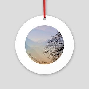 Smoky Mountain Sunset Ornament (Round)