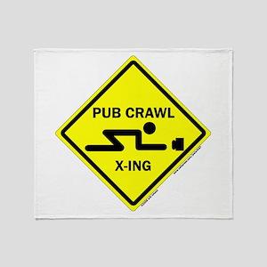 Pub Crawl X-ing (Crossing) Throw Blanket