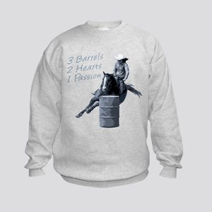 barrel racing horse black Sweatshirt