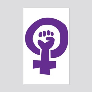 Feminist Pride Symbol Sticker (Rectangle)