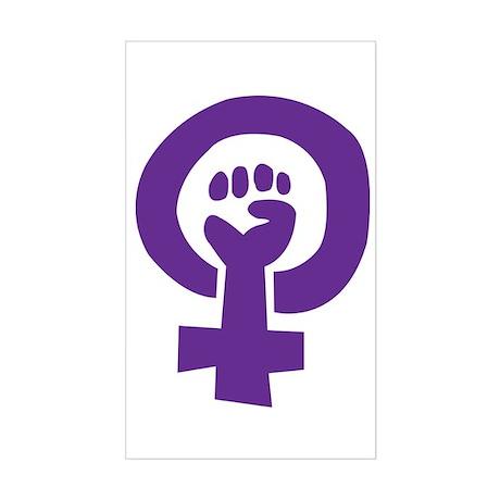 Feminist Pride Symbol Sticker (Rectangle)