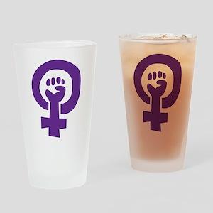 Feminist Pride Symbol Pint Glass
