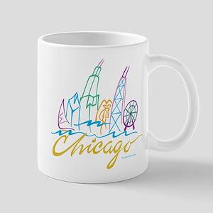 Chicago Stylized Skyline Mug