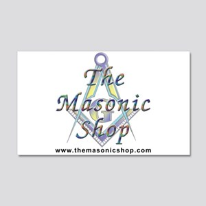 The Masonic Shop Logo 20x12 Wall Decal