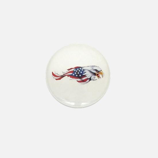 Cute Patriotic eagle Mini Button