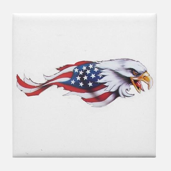 Unique Eagle flag Tile Coaster