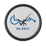 Disabled Stuck Large Wall Clock