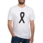 Black Ribbon Fitted T-Shirt