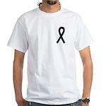 Black Ribbon White T-Shirt