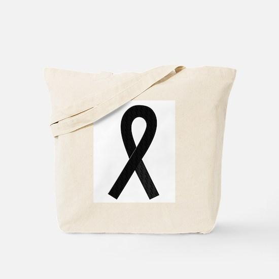 Black Ribbon Tote Bag
