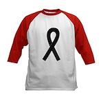 Black Ribbon Kids Baseball Jersey