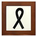 Black Ribbon Framed Tile
