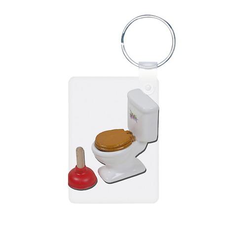 Toilet Large Plunger Aluminum Photo Keychain