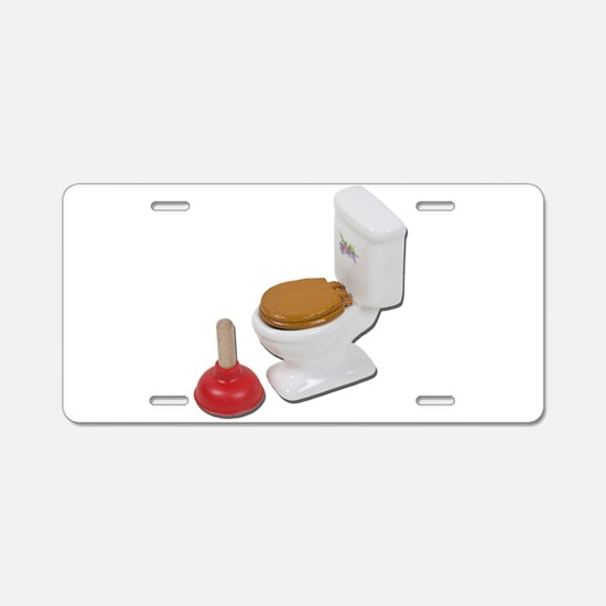 Toilet Large Plunger Aluminum License Plate