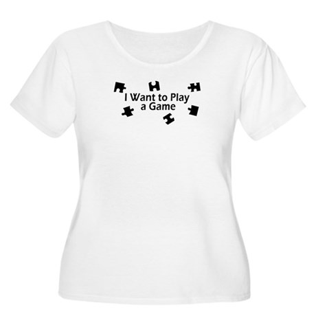 I Want to Play a Game Jigsaw Women's Plus Size Sco