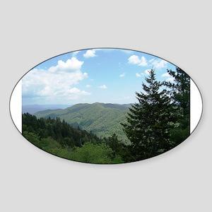 Great Smokey Mountains Sticker (Oval)