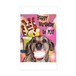 Happy Birthday Sticker (Rectangle 50 pk)