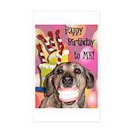 Happy Birthday Sticker (Rectangle 10 pk)