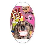 Happy Birthday Sticker (Oval 50 pk)