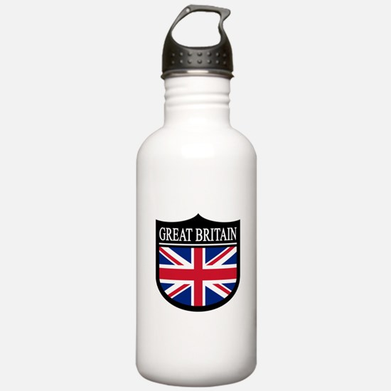Great Britain Patch Water Bottle