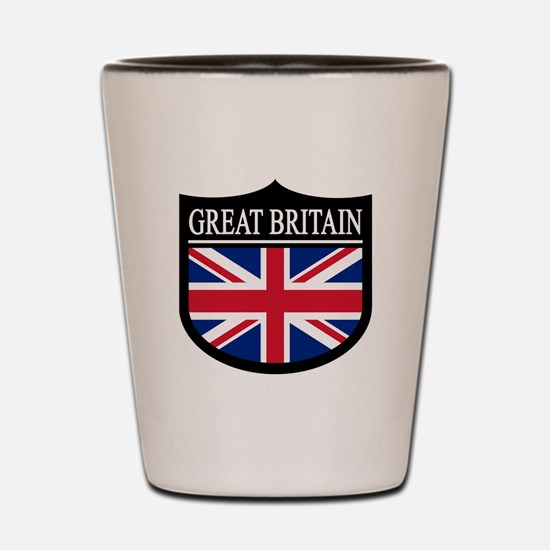 Great Britain Patch Shot Glass