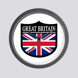Great Britain Patch Wall Clock