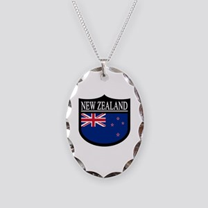 New Zealand Patch Necklace Oval Charm