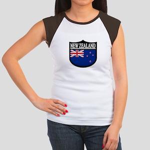 New Zealand Patch Women's Cap Sleeve T-Shirt