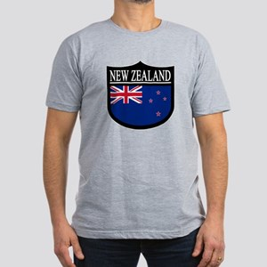 New Zealand Patch Men's Fitted T-Shirt (dark)