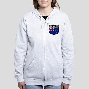 New Zealand Patch Women's Zip Hoodie