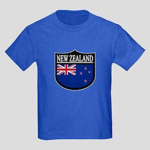 New Zealand Patch Kids Dark T-Shirt
