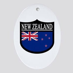 New Zealand Patch Ornament (Oval)