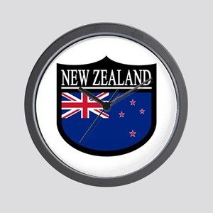 New Zealand Patch Wall Clock