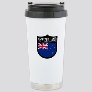 New Zealand Patch Stainless Steel Travel Mug