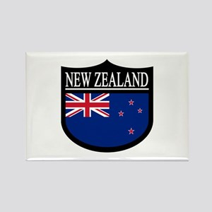 New Zealand Patch Rectangle Magnet