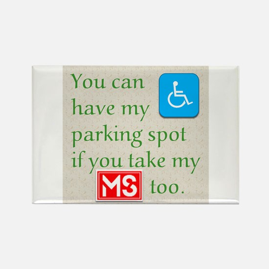 MS Parking Spot Rectangle Magnet