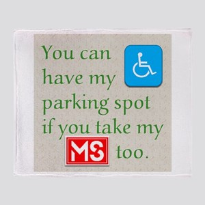MS Parking Spot Throw Blanket