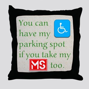 MS Parking Spot Throw Pillow