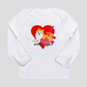 Particolor Pomeranian Long Sleeve Infant T-Shirt
