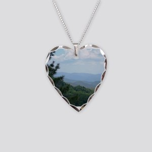 Great Smoky Mountains Necklace Heart Charm