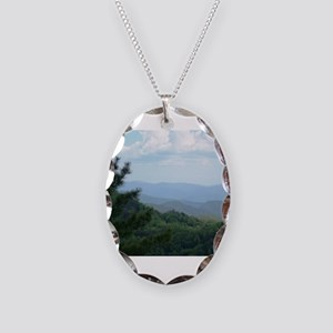 Great Smoky Mountains Necklace Oval Charm