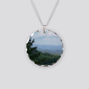 Great Smoky Mountains Necklace Circle Charm