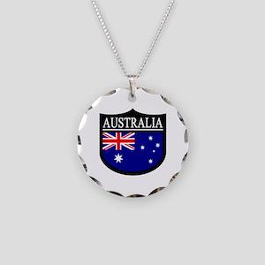Australia Patch Necklace Circle Charm