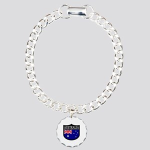 Australia Patch Charm Bracelet, One Charm