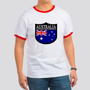 Australia Patch Ringer T