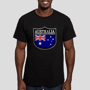 Australia Patch Men's Fitted T-Shirt (dark)