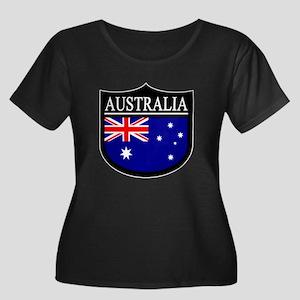 Australia Patch Women's Plus Size Scoop Neck Dark